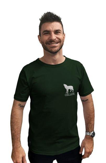 Camiseta Cellos Howled Premium Verde Militar