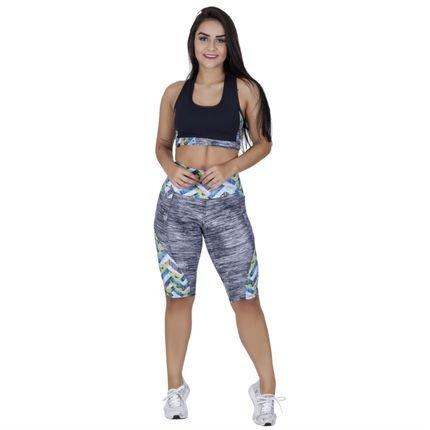 ORBIS FITNESS Top Fitness Sustentação Preto Detalhe Estampa E Forro Orbis Est Setas JD6vf