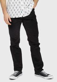 Pantalón Ellus Cotelé Negro - Calce Slim Fit