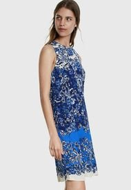 Vestido Desigual Azul - Calce Ajustado