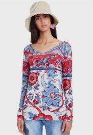 Sweater Desigual Pullover Wonderland  Multicolor - Calce Regular