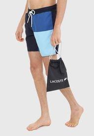 Traje de baño Azul-Blanco Lacoste