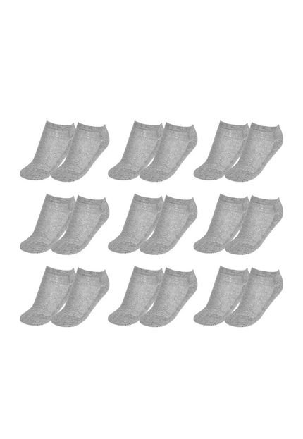 Top Fill Kit 9 Pares Meia Soquete Top Fill TF19-SQT-F Cinza y1zxt