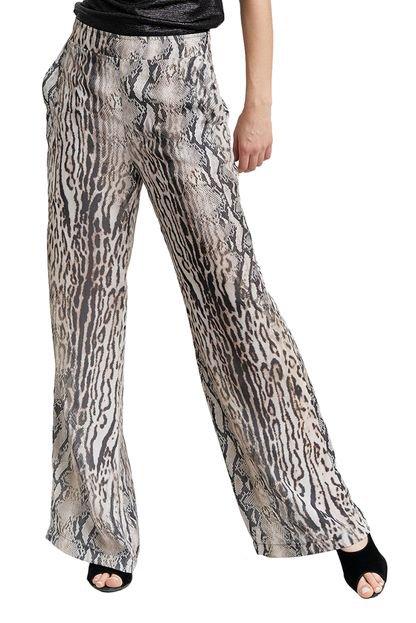 MX Fashion Calça MX Fashion Pantalona Thander Cinza UNPSz