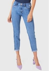 Jeans Baggy Roll Up Azul Amalia Jeans