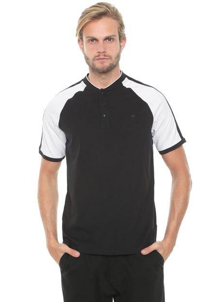 Camiseta Calvin Klein Raglan Preta/Branca