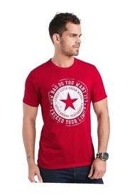 Camiseta Para Hombre Rojo MP