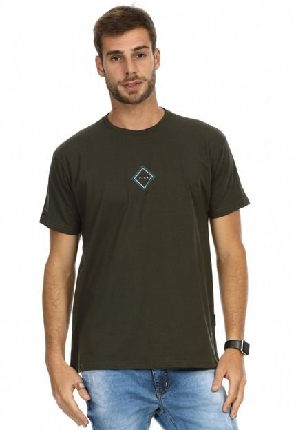Camiseta VLCS Logotipia Gola Careca Verde