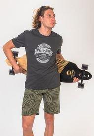 Polera Skater Tailored Fit   Gris Grafito Polemic