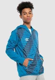 Chaqueta Umbro Fleece Jacket Woven Printed Azul - Calce Regular