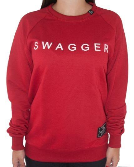 Swagger Moletom Swagger Escrito Vermelho 3I7hx
