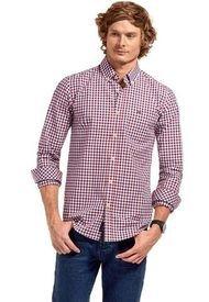 Camisa Manga Larga Checkered College Rojo Ferouch