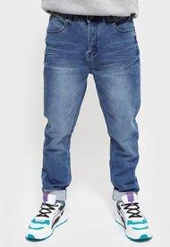 Jeans Ellus SKINNY TIRO MEDIO TECHNO FABRIC Azul - Calce Skinny