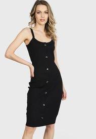 Vestido Vero Moda Negro - Calce Ajustado