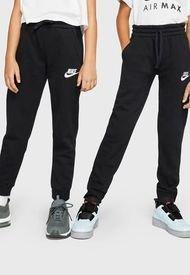 Pantalón de Buzo Nike B NSW CLUB FLC JOGGER PANT Negro - Calce Regular