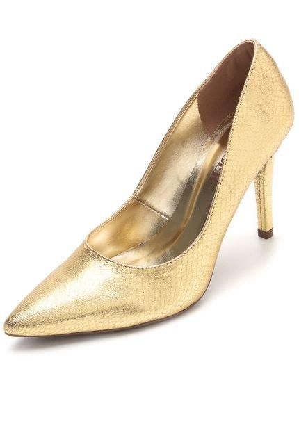 Scarpin AMBER Metalizado Dourado - Marca AMBER