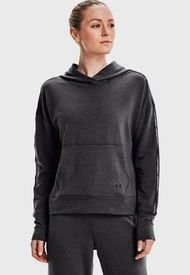 Polerón Under Armour UA Rival Terry Taped Hoodie Gris - Calce Regular