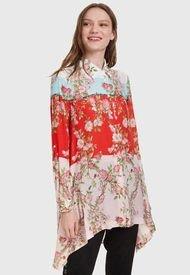 Blusa Desigual ML Larga Multicolor - Calce Holgado