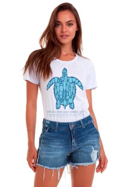 Camiseta Basica Joss No Plastic Branca