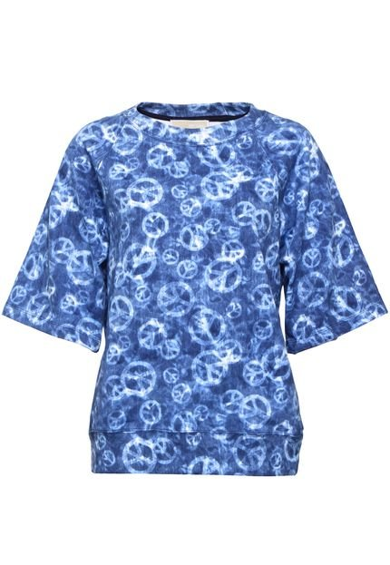 Michael Kors Camiseta Michael Kors ELV SS PEACE Azul qiGQp