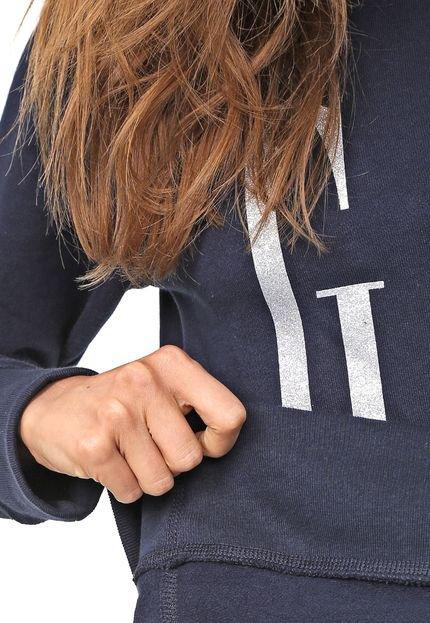GAP Moletom Flanelado Fechado GAP Logo Azul-marinho