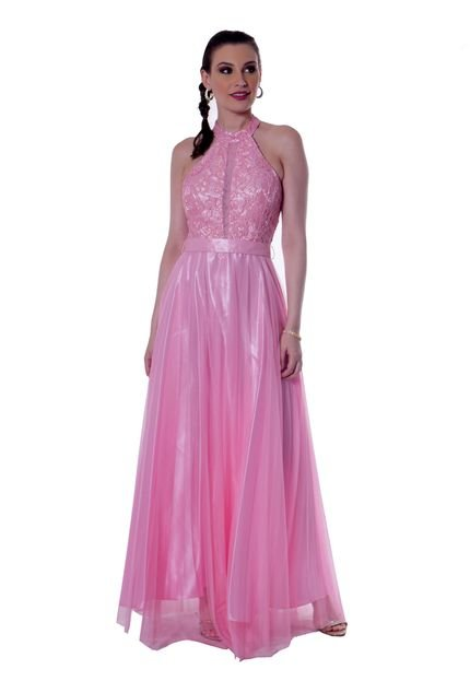 Gowara Vestido longo Gowara renda CQTy6