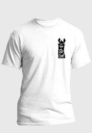 Camiseta Estampada Hombre Negro-Blanco Kuva - Llama