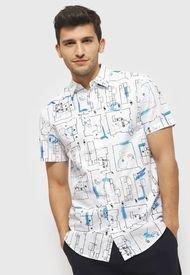 Camisa Desigual Blanco - Calce Regular