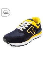 Tenis Hombre Azul*Amarillo Tellenzi 040