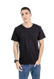 Camiseta Color Negro Para Hombre Manga Corta Cuello Redondo Kirk
