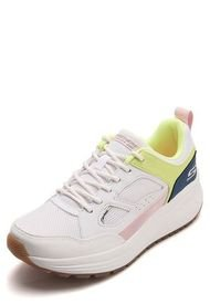 Tenis Lifestyle Blanco-Amarillo-Azul Skechers Retro Jam
