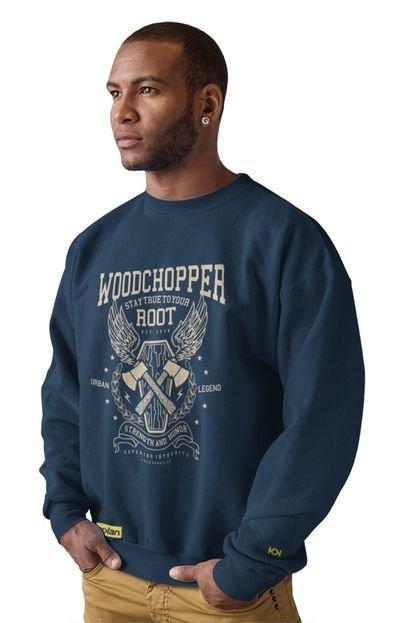 Moletom Crew Neck Ukkan Woodchopper Azul Marinho