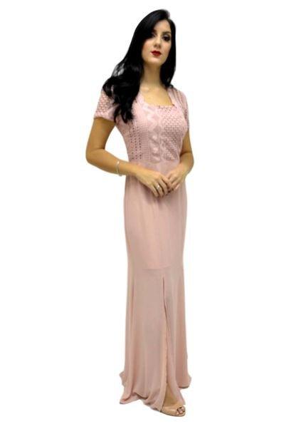 Energia Vestido Longo Energia Fashion Rosa hLpHL