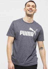Polera Puma ESS Heather Tee Azul - Calce Regular