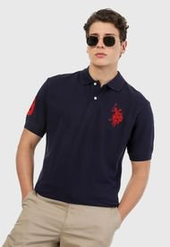 Polo Azul-Rojo US Polo Assn