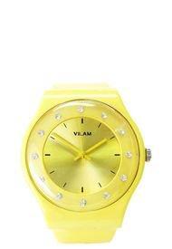 Reloj Números Circones Amarillo Vilam