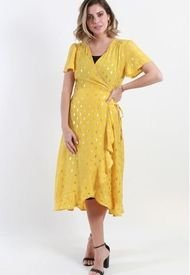 Vestido Camison Estampado Mostaza Night Concept