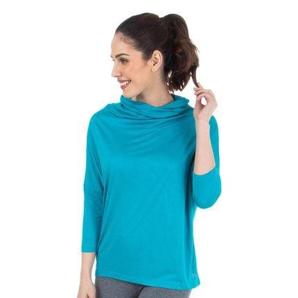 Marcyn Active Blusa Gola Ampla Azul Splash - 506.829 Marcyn Active Camisetas Fitness Multicolorido bCd4F