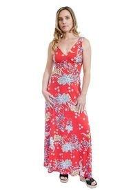 Vestido Vera Rojo Flores Natalia Seguel