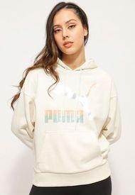 Polerón Puma Classics Logo Hoodie (s) Crudo - Calce Holgado