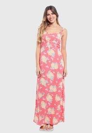 Vestido Wados Floral Sin Mangas Rosa - Calce Regular