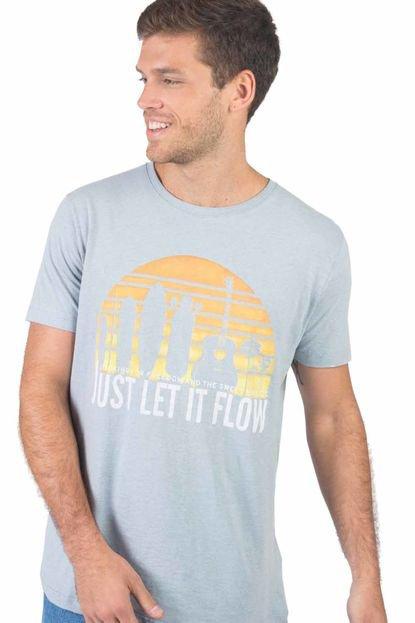 T-Shirt Estampada Just Let It Flow Az Cl AZ CL/GG