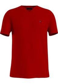 Camiseta  Vneck Rojo Tommy Hilfiger