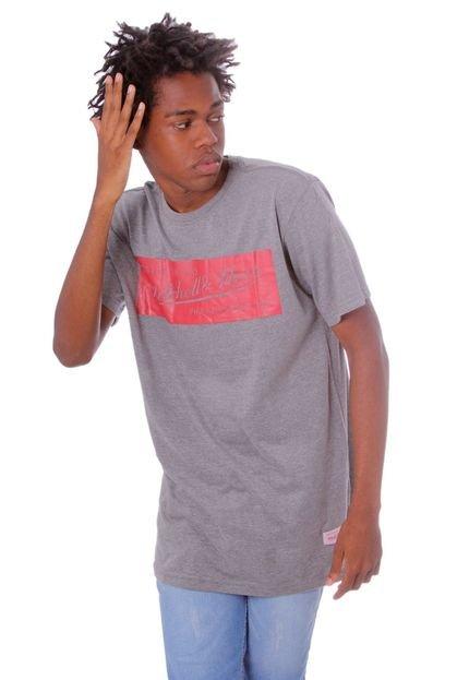 Camiseta Mitchell & Ness Estampada Box Logo Mescla