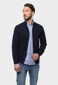 Sweater Full Zipper Azul Marino Arrow