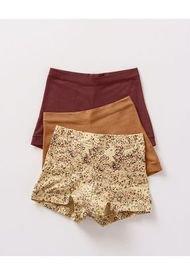 Panty Boxer Rojo Leonisa 12669X3