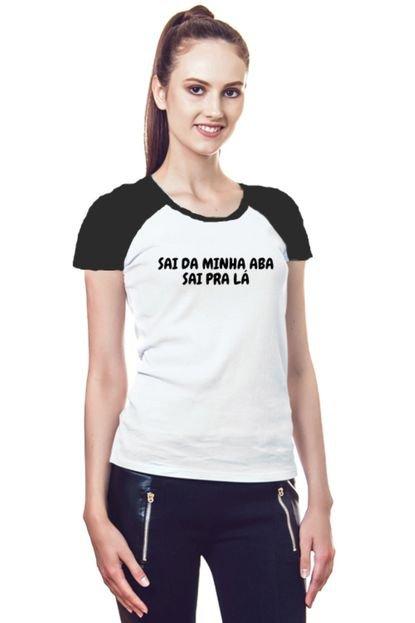Garota Sideral Camiseta Feminina sai da minha aba sai pra lá 77RJf