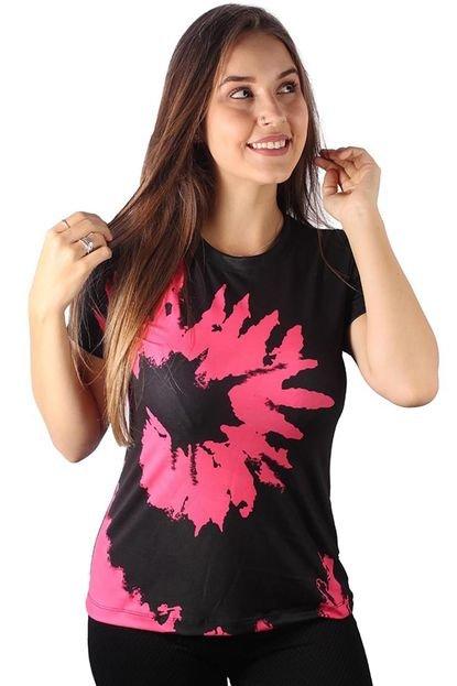 Over Fame Camiseta Baby Look Espiral Tie Dye Md23 PR890