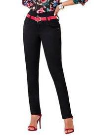 Jeans Colombiano Control Abdomen Negro Bartolomeo