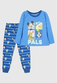 Pijama LL Niño Mickey Y Amigos Celeste Disney